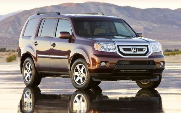 The 2009 Honda Pilot gets ratings the highest possible safety picture #1