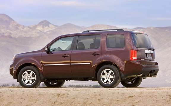 The 2009 Honda Pilot gets ratings the highest possible safety picture #2