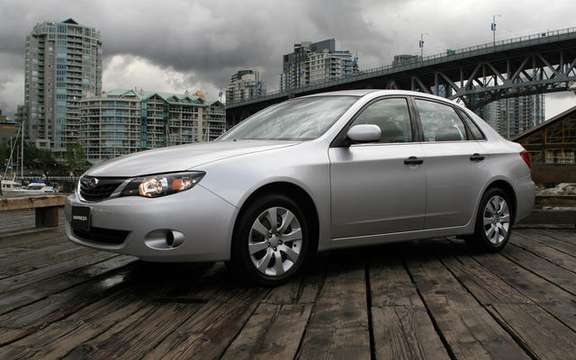 Subaru Canada announces pricing for the 2009 Impreza range