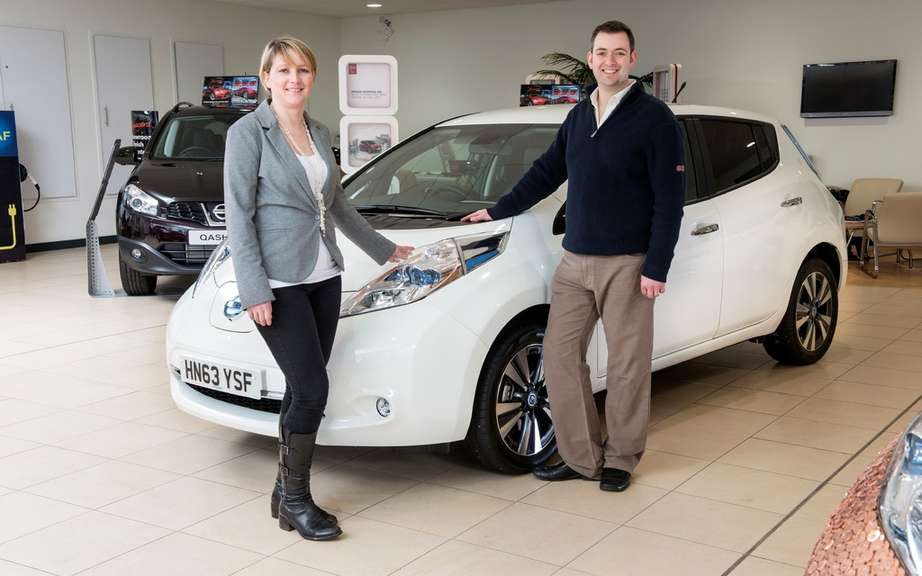 Nissan LEAF: it can supply the office and home