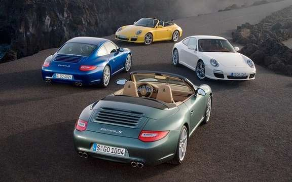 Porsche 911, the emanations of CO2 is reduced