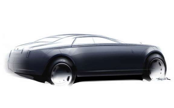 The manufacturer Rolls-Royce unveiled the first sketch of its RR4