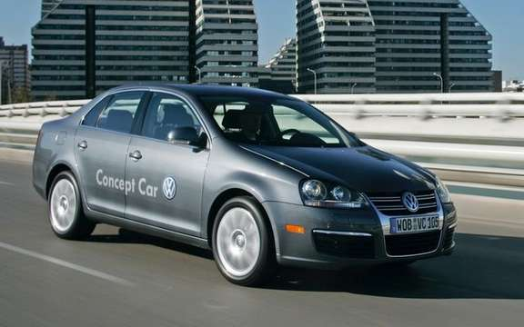 Volkswagen demarque at the Green Living Show with its 2009 Jetta TDI