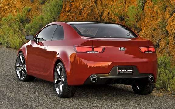 Kia KOUP concept of a new model series which promises picture #2