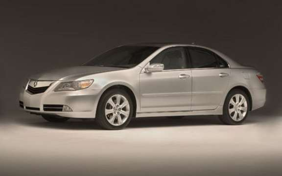 Presentation of the 2009 Acura RL sedan completely redesigned