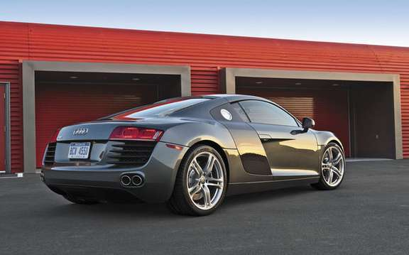 Audi R8 car chosen the most efficient and best model of the year 2008