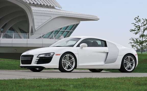 Audi R8 car chosen the most efficient and best model of the year 2008 picture #2