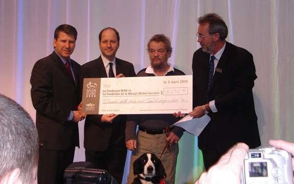 Auto Show in Quebec, donated $ 40,235