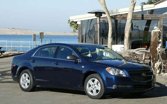 Chevrolet Malibu elue North American Car of the Year 2008