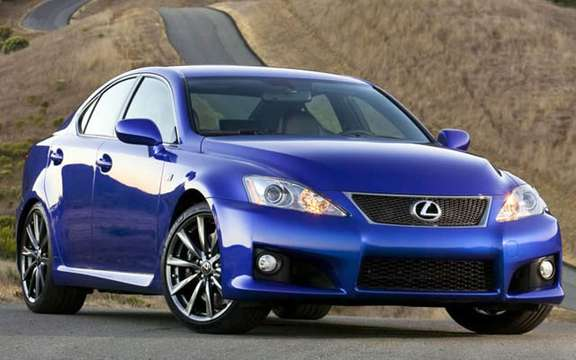 A large sports sedan Lexus IS-F 2008