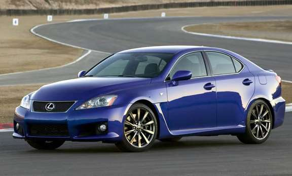 A large sports sedan Lexus IS-F 2008 picture #3