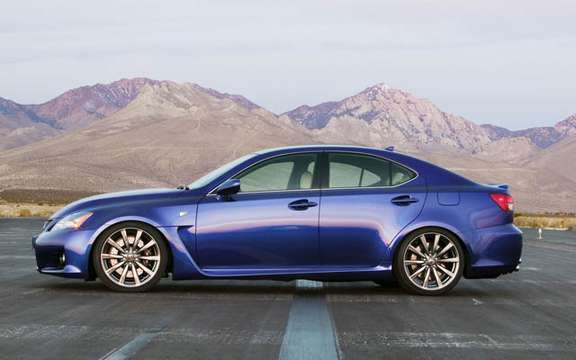 A large sports sedan Lexus IS-F 2008 picture #4
