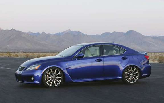 A large sports sedan Lexus IS-F 2008 picture #7