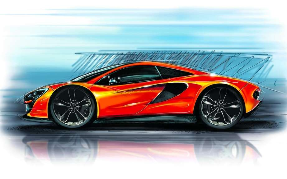 McLaren P13: first official sketch