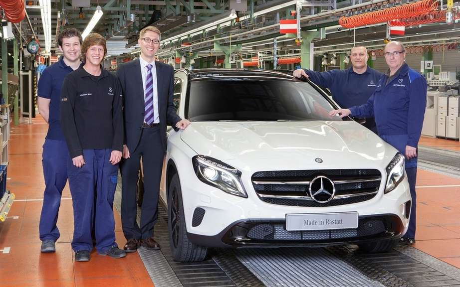 Start of production of the Mercedes-Benz GLA picture #4