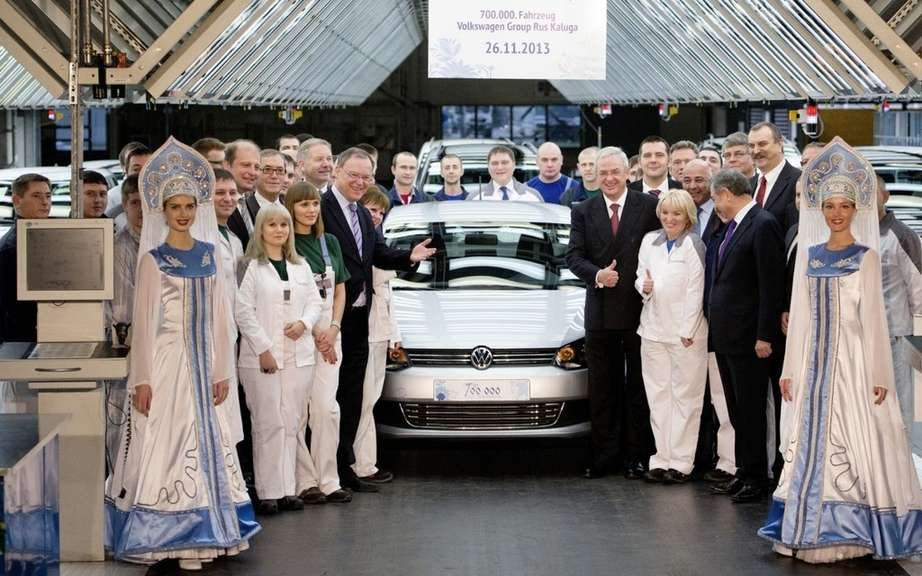 Volkswagen produced 700,000 vehicles in Kaluga