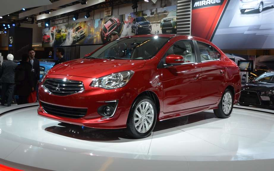 Mitsubishi Mirage sedan has a dream for America