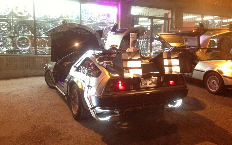 The DeLorean from Back to the Future in Montreal this weekend