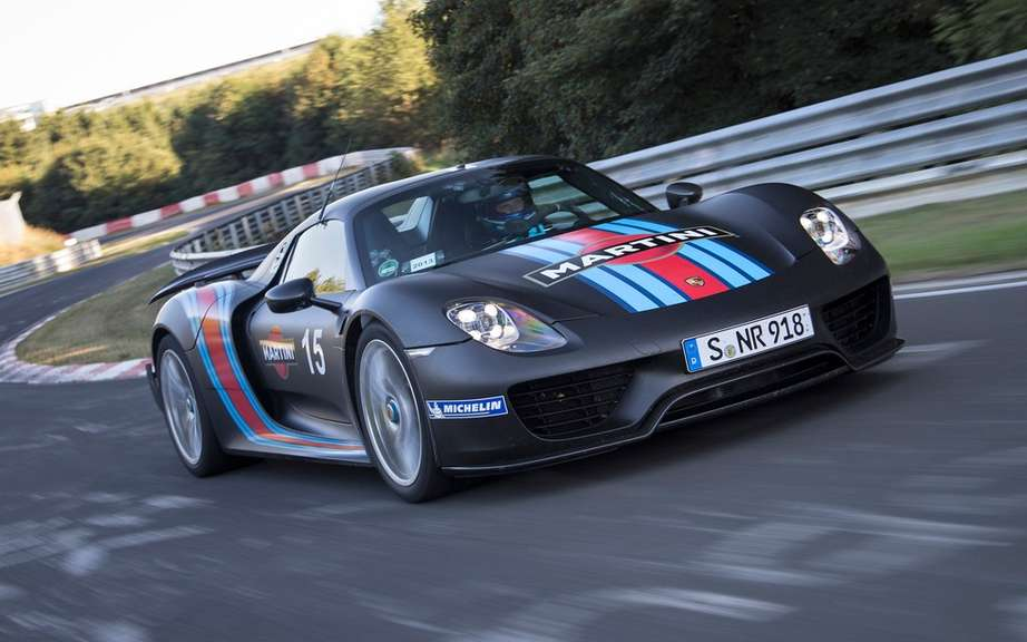 Porsche 918 Spyder series seen at Pebble Beach