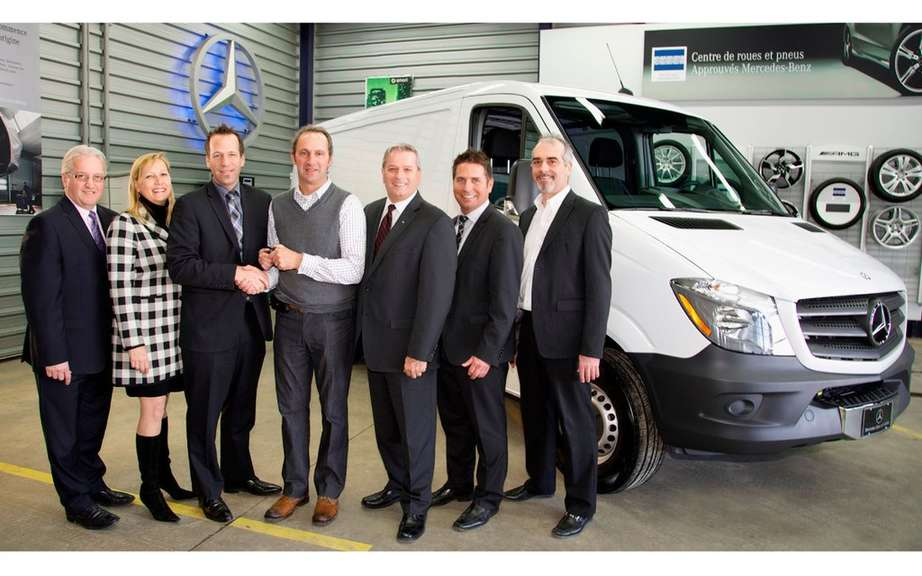 Mercedes-Benz Sprinter receives a Louis Gadreau the day of his feast picture #4