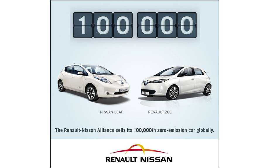 Renault-Nissan sold 100,000 cars Zero-Emission picture #1