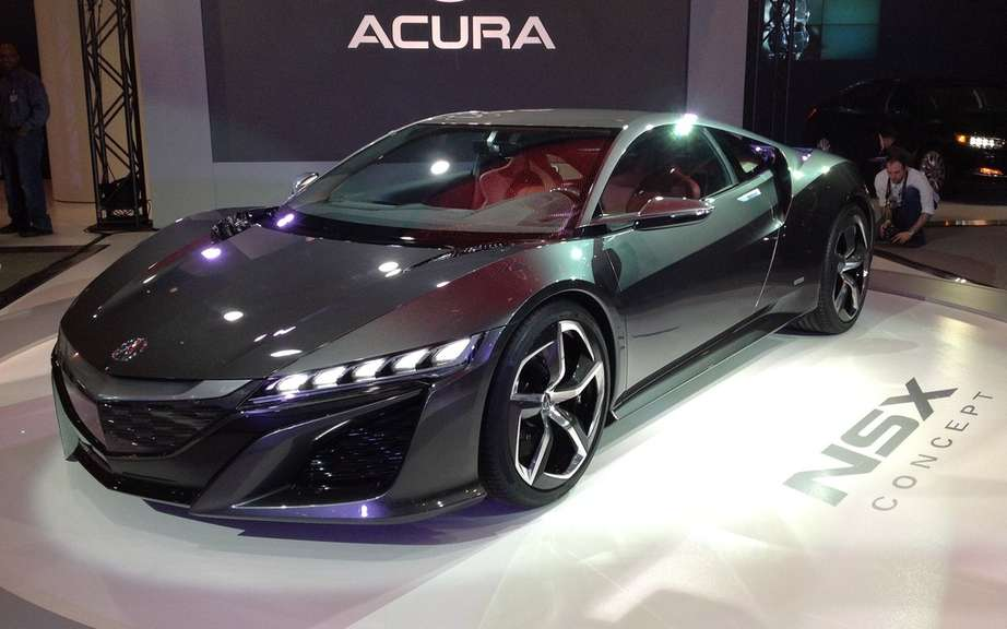 Acura NSX: the prototype unveiled at Mid-Ohio Raceway before the Honda Indy 200 IndyCar
