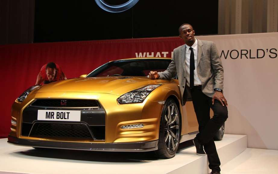 Nissan GT-R Bolt Gold 2014: Usain Bolt has reserved picture #2