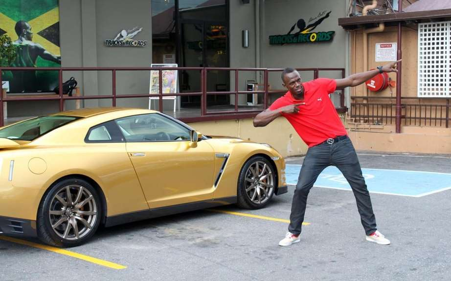 Nissan GT-R Bolt Gold 2014: Usain Bolt has reserved picture #6