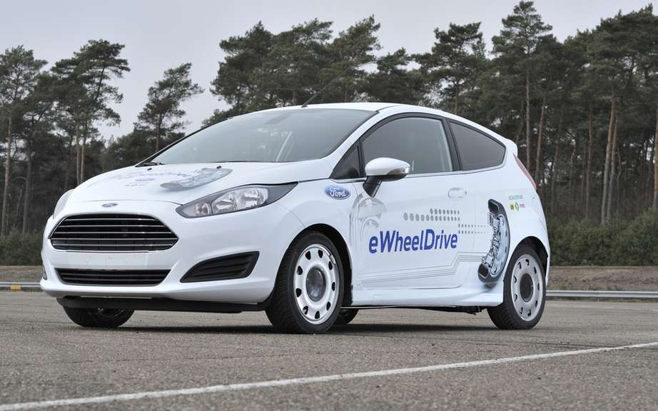 Ford Fiesta eWheelDrive: the prototype-wheel motor