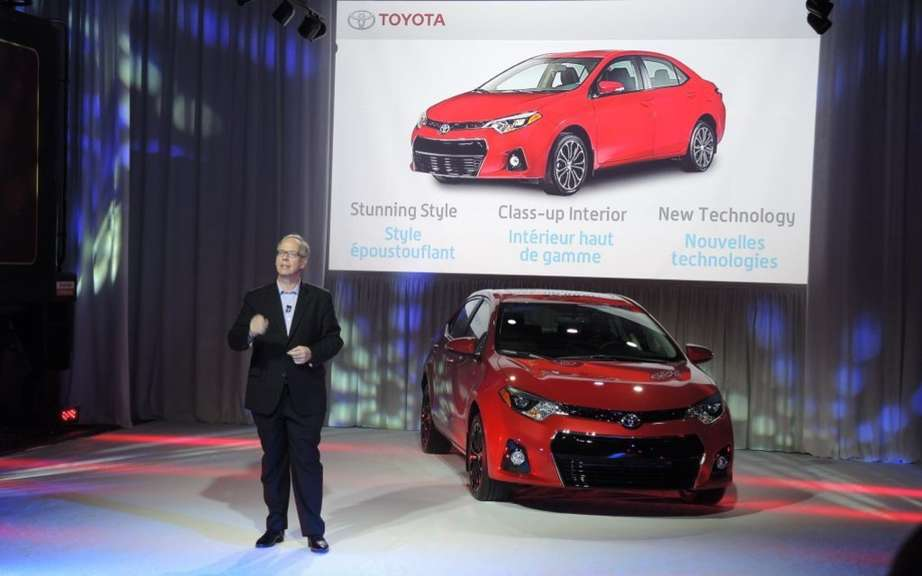 Toyota Corolla 2014, new forms rather angular picture #3
