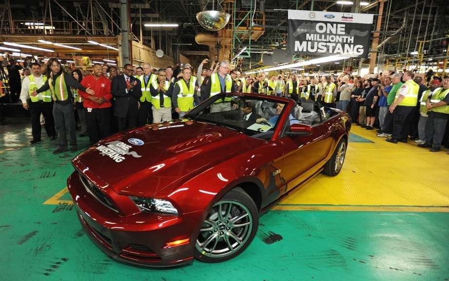 Ford assembles its millionth Mustang Flat Rock
