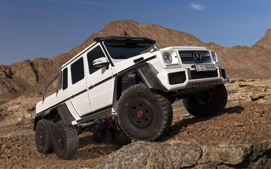 Mercedes-Benz G63 AMG 6X6: bigger than the Hummer H1