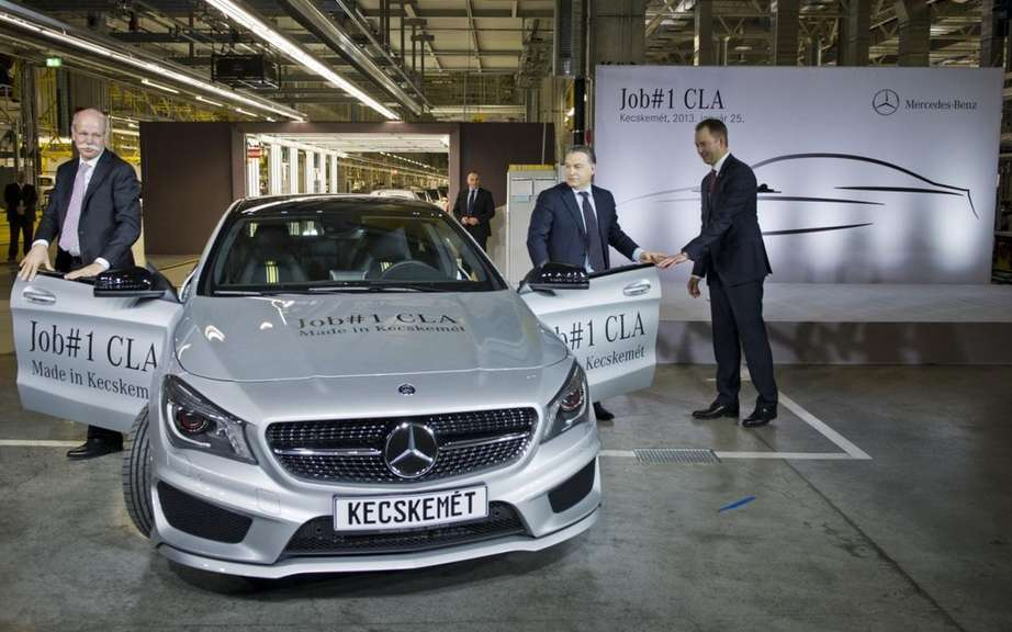 Mercedes-Benz CLA: start of production