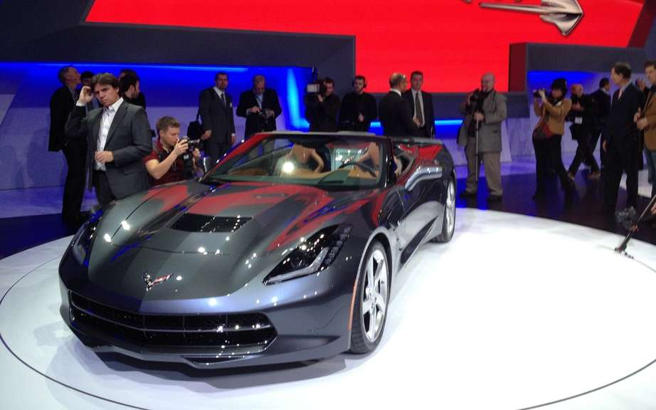 Chevrolet Corvette Stingray Convertible: unveiled in miniature