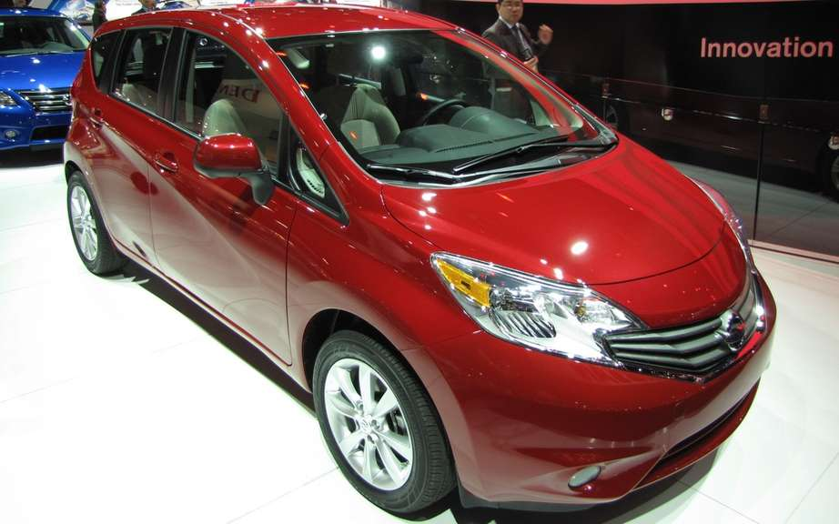 Nissan Versa Note: sold from $ 13,348