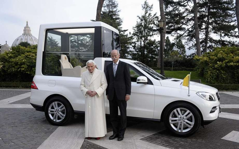 Mercedes-Benz delivers a new Popemobile has Benedict XVI