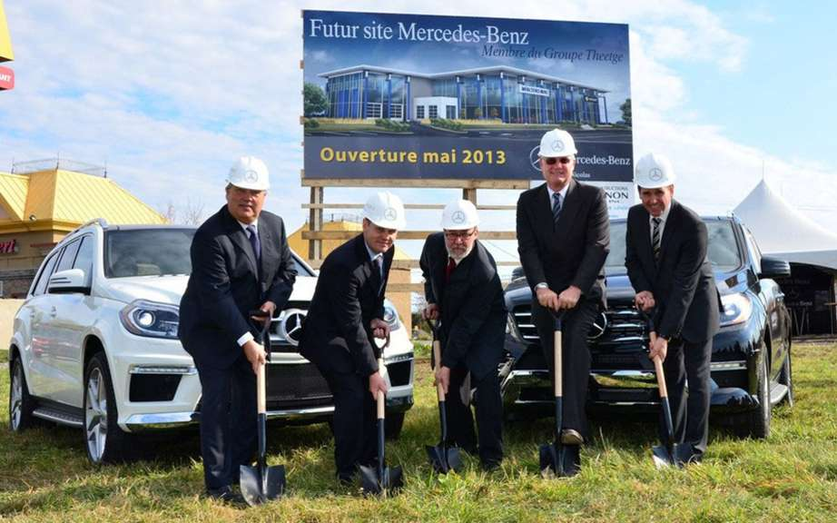 Mercedes-Benz settled in St-Nicolas