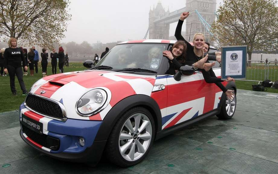 Mini Cooper welcoming 28 gymnasts for the Guinness World Records