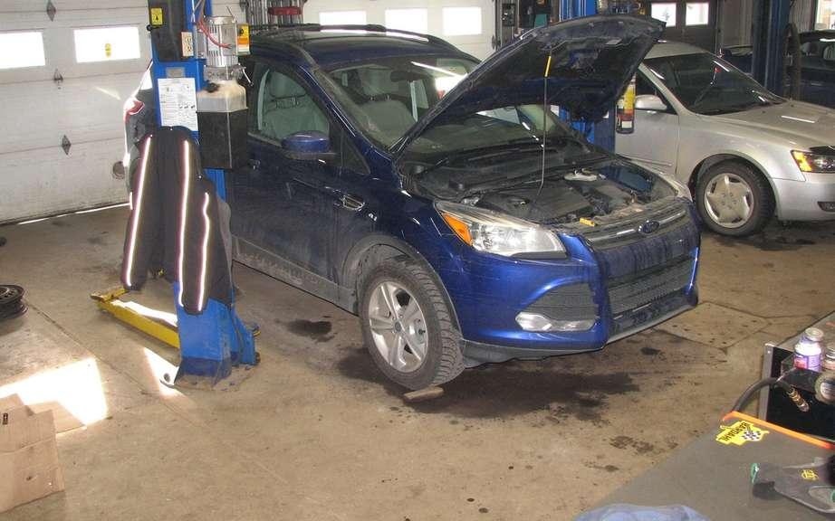 2014 Ford Fiesta driven by a 1.0-liter EcoBoost engine