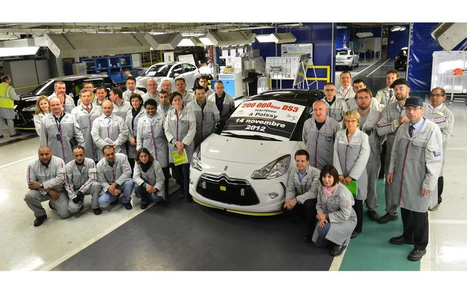 Citroen DS3: already 200,000 copies produced in France