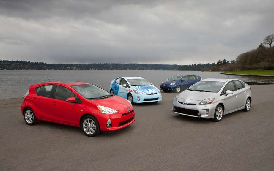 Toyota sold 1.02 million hybrid vehicles in the first 10 months of 2012