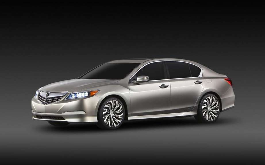 Acura RLX 2014 series of the model unveiled in Los Angeles
