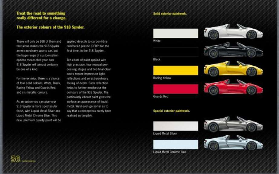 Porsche 918 Spyder: The brochure can be found on the Net picture #7
