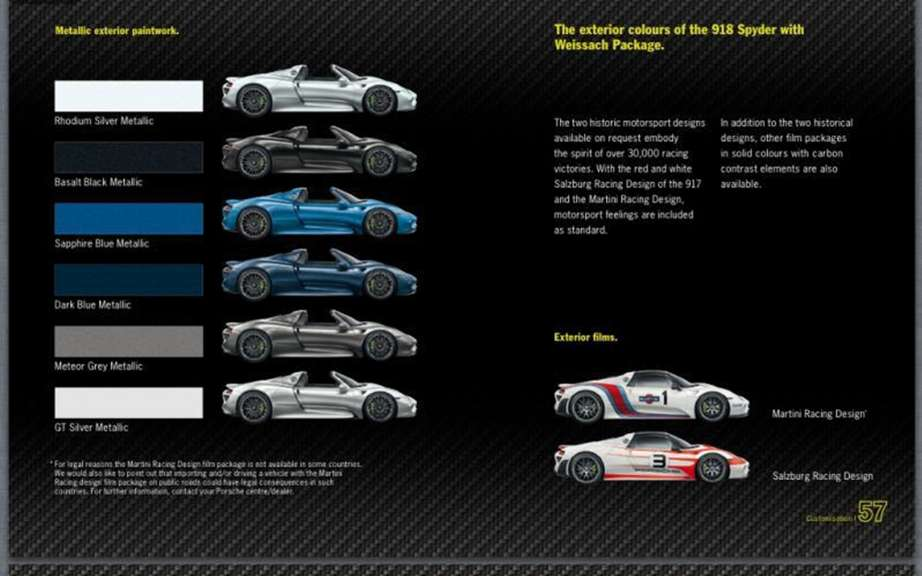 Porsche 918 Spyder: The brochure can be found on the Net picture #8