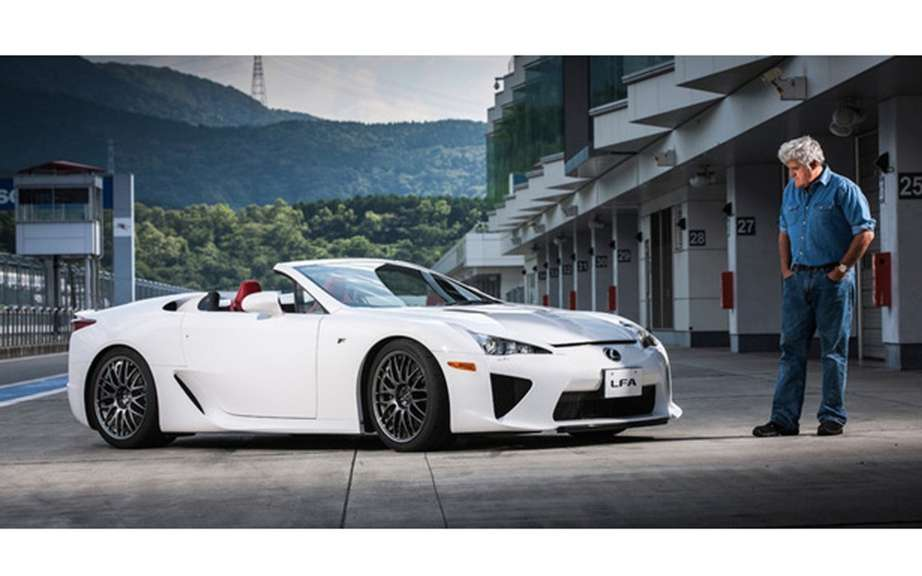 Lexus LFA Spyder with Jay Leno behind the wheel picture #1