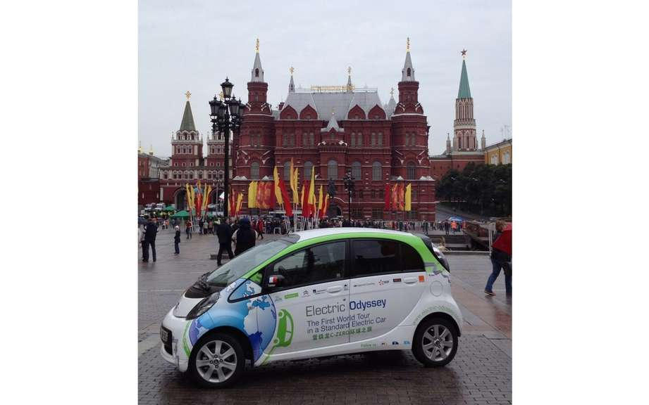 Electric Odyssey: From Kazakhstan to the Kremlin Citroen C-Zero continues on its way!