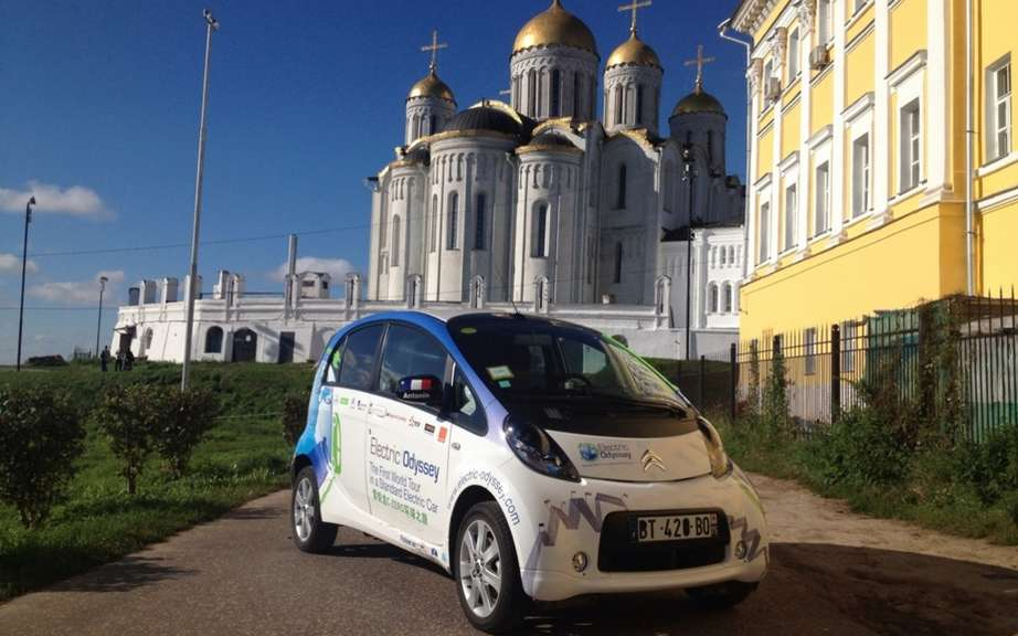 Electric Odyssey: From Kazakhstan to the Kremlin Citroen C-Zero continues on its way! picture #2