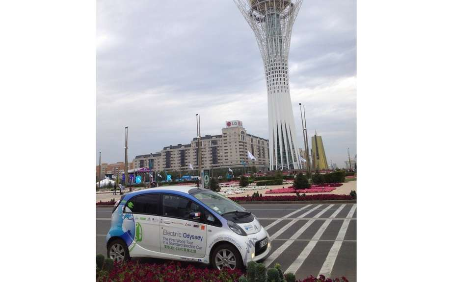 Electric Odyssey: From Kazakhstan to the Kremlin Citroen C-Zero continues on its way! picture #3
