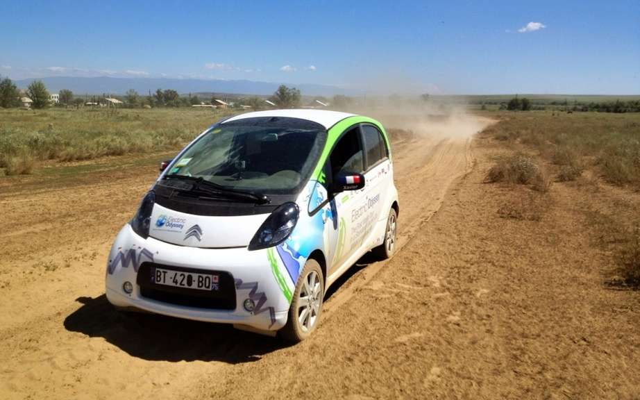 Electric Odyssey: From Kazakhstan to the Kremlin Citroen C-Zero continues on its way! picture #4
