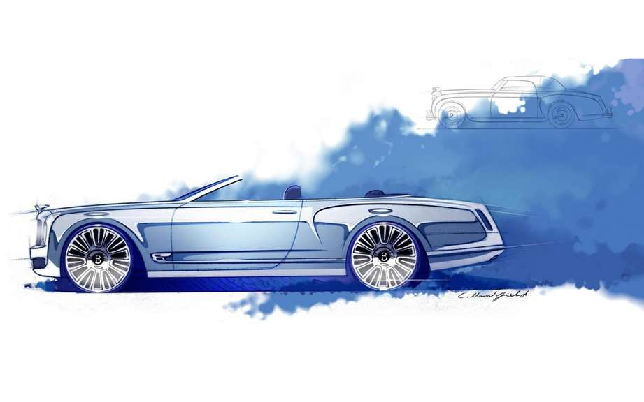 Bentley Mulsanne Convertible Concept: sketches reveal